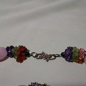 Jewelry - Vintage Semi Precious Necklace & Bracelet